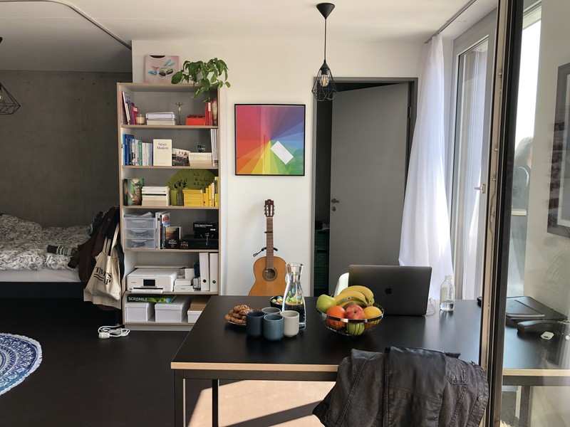 Das Studio ist 31 Quadratmeter gross.