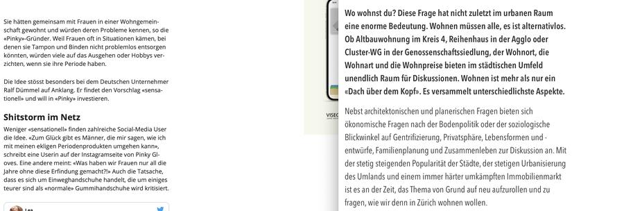 Ein Vergleich der Schriftgrösse mit der vom Magazin Watson.ch