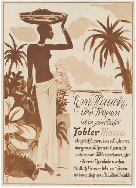 Rassistische, sexualisierte Darstellungen schwarzer Frauen gehörten in der Schokoladenwerbung zum Standardrepertoir. (Bild: Schweizer Illustrierte)