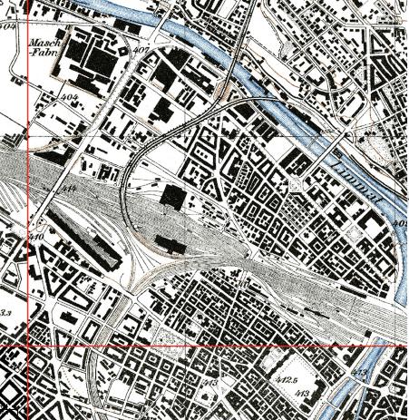 Stadtplan, ebenfalls mit Langstrasse von 1930 (Quelle: Baugeschichtliches Archiv der Stadt Zürich/Creative Commons BY-SA 4.0)