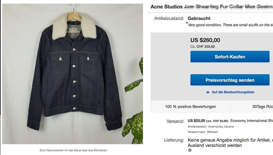 jacken verkaufen ebay