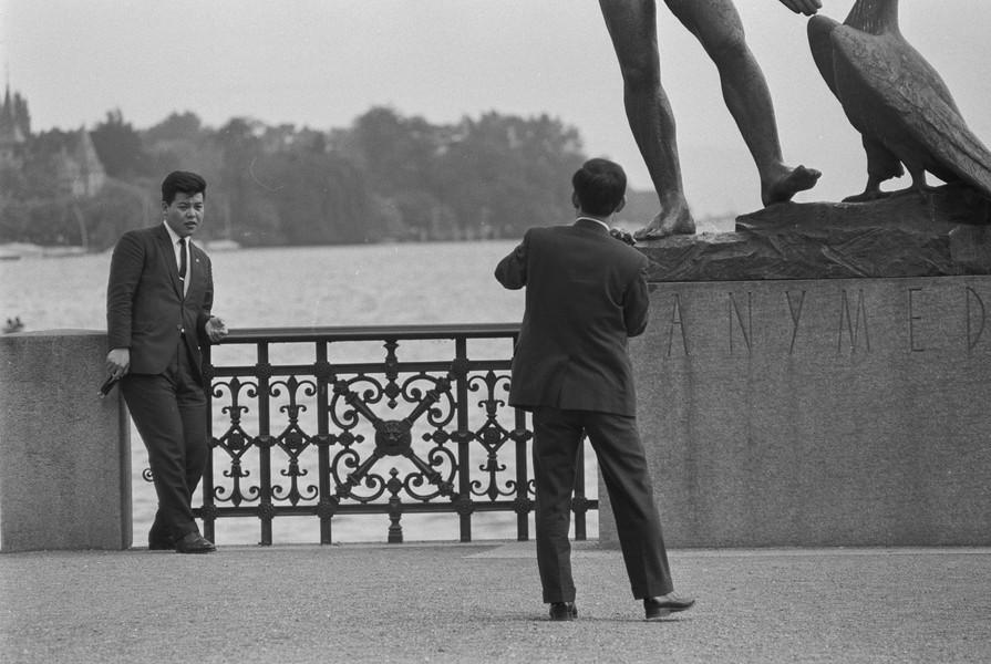 Ganymed mit Touristen um 1966