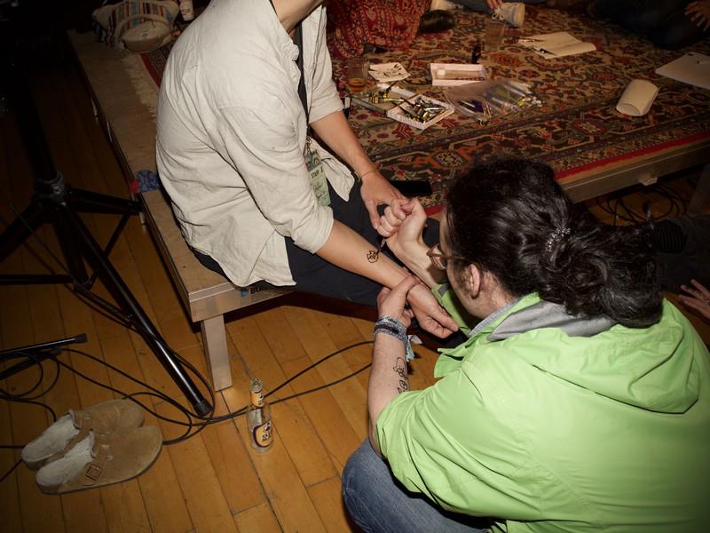 Es gab auch einen Henna-Tattoo-Workshop.