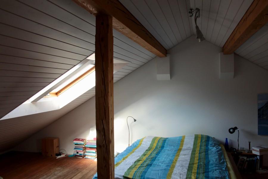 Der ausgebaute Estrich dient als viertes Schlafzimmer.