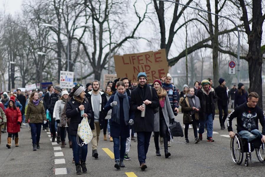 Am 2. Februar fand auch in Zürich eine Klimademo statt. (Bild: Elio Donauer)