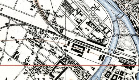 Stadtplan mit Langstrasse von 1880 (Quelle: Baugeschichtliches Archiv der Stadt Zürich/Creative Commons BY-SA 4.0)