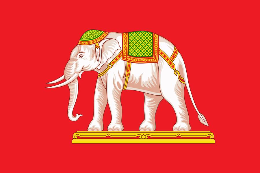 Die Flagge Siams