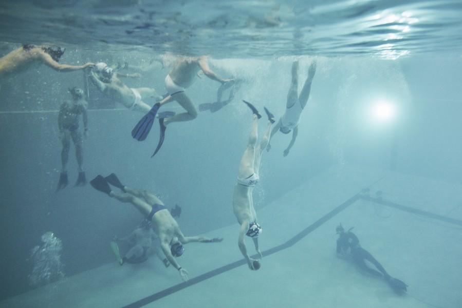 So sieht Unterwasserrugby aus.